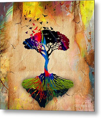 Tree Of Life Painting Metal Print by Marvin Blaine