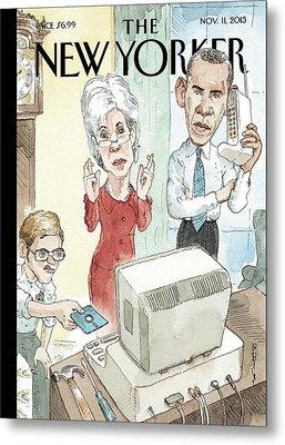 New Yorker November 11th, 2013 Metal Print