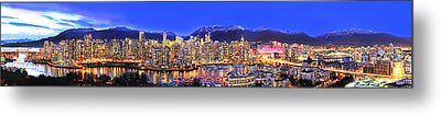 Vancouver Skyline Panorama Metal Print by Wesley Allen Shaw