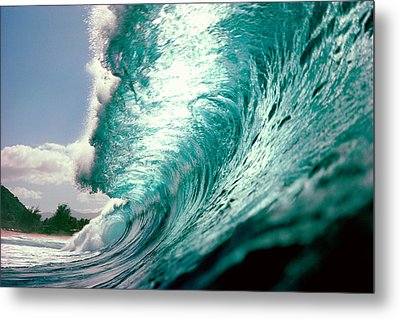 Waves Splashing In The Sea Metal Print by Panoramic Images