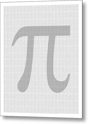 100 Thousand Pieces Of Pi Metal Print by Ron Hedges
