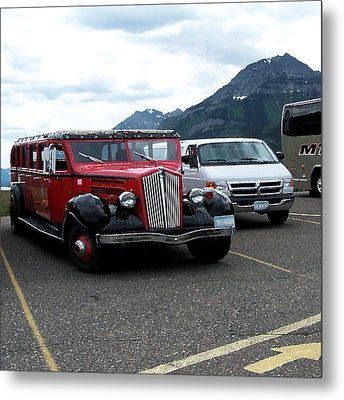 100514 Montana Touring Vechile Metal Print by Garland Oldham