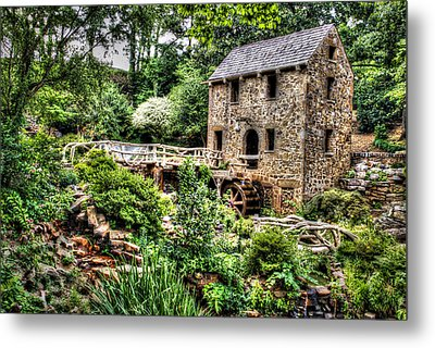 1007-2693 Pugh's Old Mill  Metal Print by Randy Forrester
