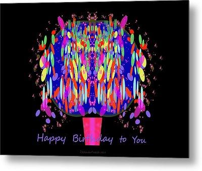 1038 - Happy Birthday  To You Metal Print