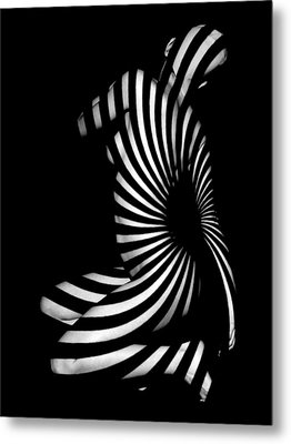 1055  Experimental Abstract Nude Art Metal Print by Chris Maher