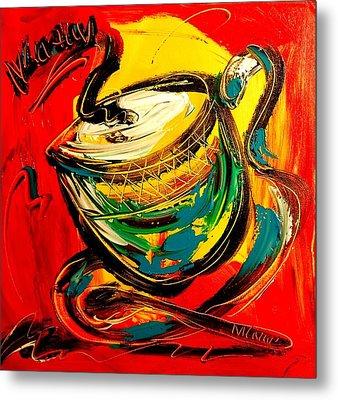 Coffee Metal Print by Mark Kazav