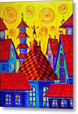 1099 Magic Town 4 - Gilded Metal Print