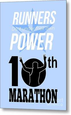 10th Marathon Race Poster  Metal Print by Aloysius Patrimonio