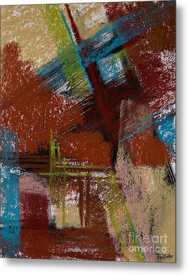 On The Diagonal Metal Print by Tracy L Teeter