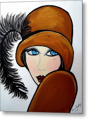 Art Deco  Gail Metal Print by Nora Shepley