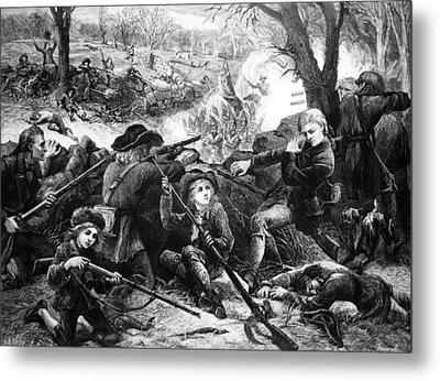 Battle Of Concord, 1775 Metal Print by Granger