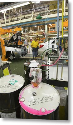 Car Assembly Production Line Metal Print by Jim West