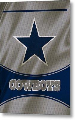 Dallas Cowboys Uniform Metal Print by Joe Hamilton