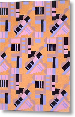 Design From Nouvelles Compositions Decoratives Metal Print by Serge Gladky
