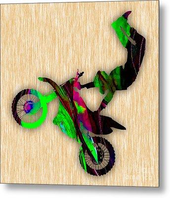 Dirt Bike Metal Print