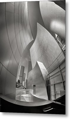 Disney Concert Hall Metal Print by Robert Jensen