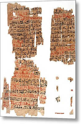 Edwin Smith Papyrus Metal Print by National Library Of Medicine