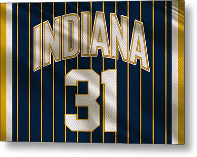 Indiana Pacers Uniform Metal Print by Joe Hamilton