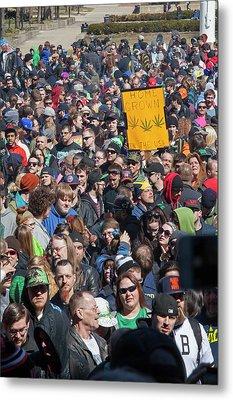 Legalisation Of Marijuana Rally Metal Print by Jim West