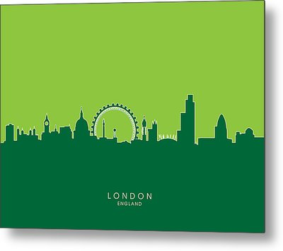 London England Skyline Metal Print by Michael Tompsett
