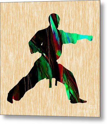 Martial Arts Karate Metal Print by Marvin Blaine