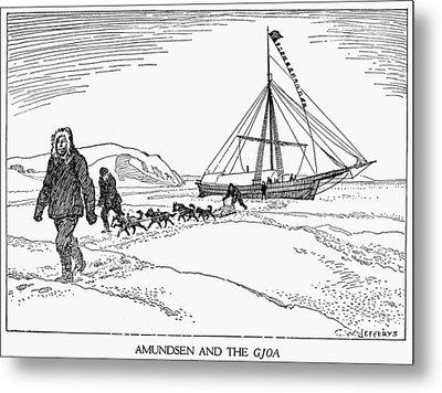 Roald Amundsen (1872-1928) Metal Print by Granger
