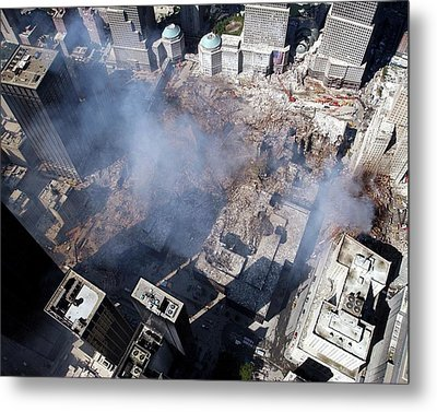 11 September Aftermath Metal Print by Us Navy/eric J. Tilford