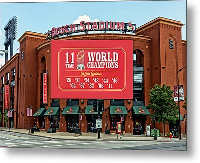 11 Time World Champion St Louis Cardnials Dsc01294 Metal Print by Greg Kluempers