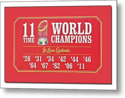 11 Time World Chapion Poster Dsc01106 Metal Print by Greg Kluempers