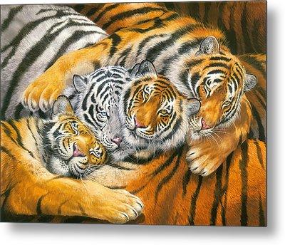 Tiger Hug Metal Print by John Francis