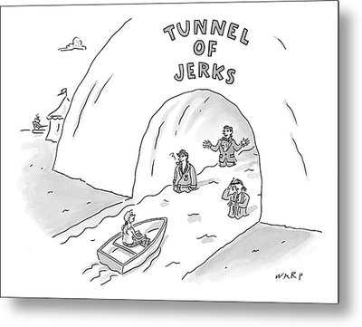Tunnel Of Jerks Metal Print