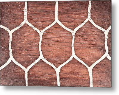 Wood Background Metal Print by Tom Gowanlock