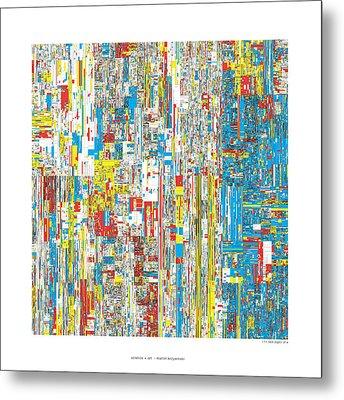 111469 Digits Of Pi Metal Print by Martin Krzywinski