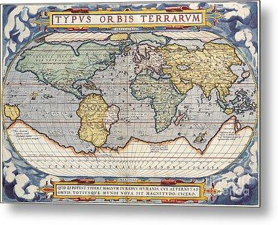 Antique Map Metal Print by Baltzgar