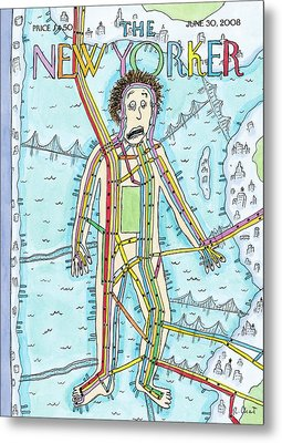 New Yorker June 30th, 2008 Metal Print by Roz Chast