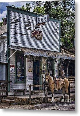 11th Street Cowboy Bar In Bandera Texas Metal Print by Priscilla Burgers