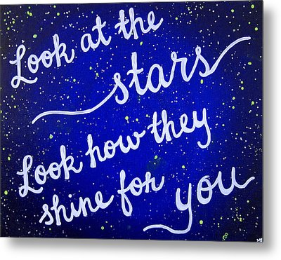 11x14 Look At The Stars Metal Print by Michelle Eshleman