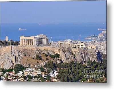 Acropolis Of Athens Metal Print by George Atsametakis