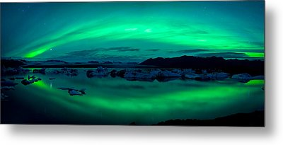 Aurora Borealis Or Northern Lights Metal Print