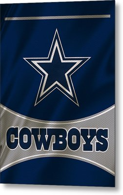 Dallas Cowboys Uniform Metal Print
