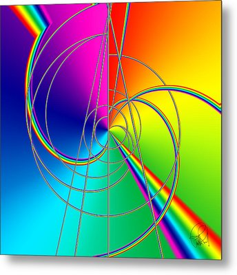 Depression Color Therapy Inside A Rainbow Metal Print by Sir Josef - Social Critic - ART