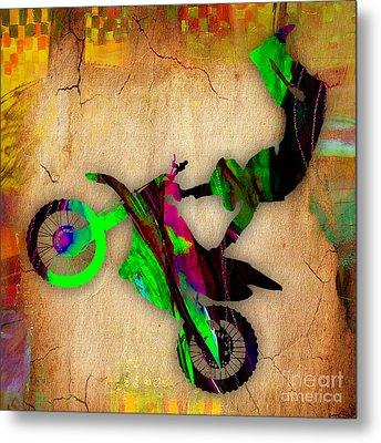 Dirt Bike Metal Print by Marvin Blaine