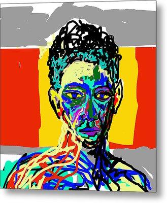 Face Metal Print by Moshfegh Rakhsha