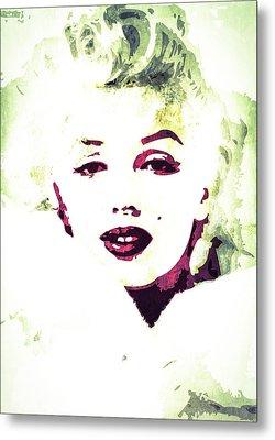 Metal Print featuring the digital art Marilyn Monroe by Svelby Art