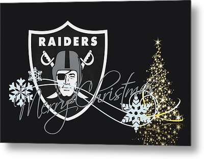 Oakland Raiders Metal Print by Joe Hamilton
