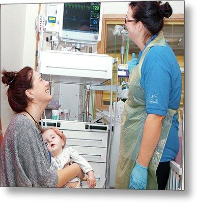 Paediatric Cardiology Ward Metal Print