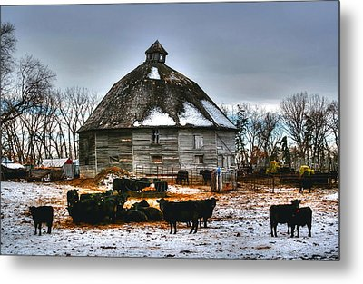 12 Sided Barn Metal Print by Larry Trupp