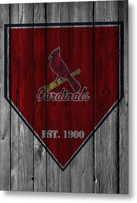 St Louis Cardinals Metal Print by Joe Hamilton