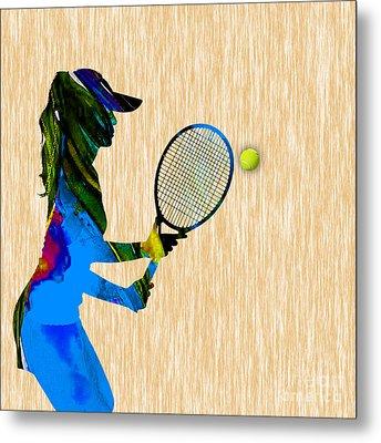Tennis Metal Print by Marvin Blaine