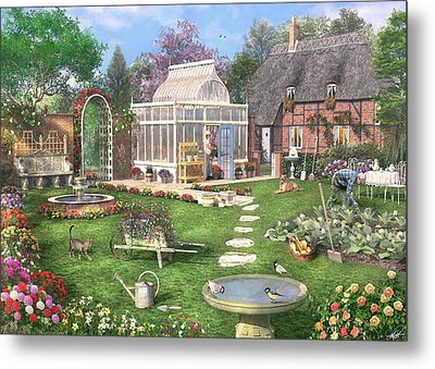 The Cottage Garden Metal Print by Dominic Davison